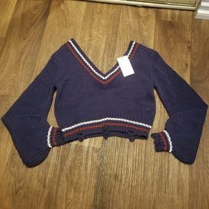 Lovers + Friends Knit Crop Sweater